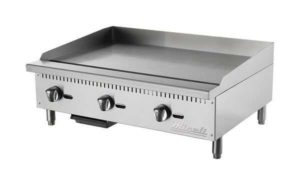 Migali 36″ Wide Manual Griddle - 90,000 BTU