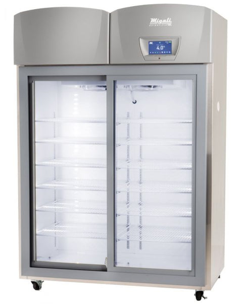 Migali Scientific Sliding Glass Door Upright Refrigerator