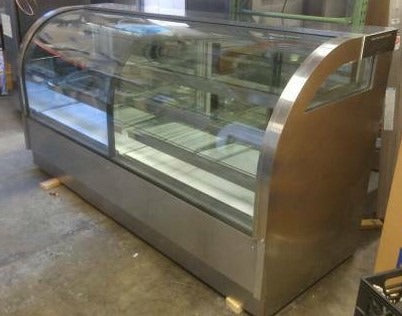 Glass Front Curved Display Cooler