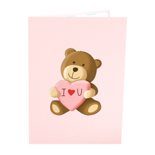 Load image into Gallery viewer, Bad Bear Inappropriate 3D Greeting Card