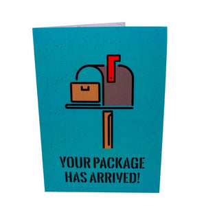 Package Arrived Funny Greeting Card