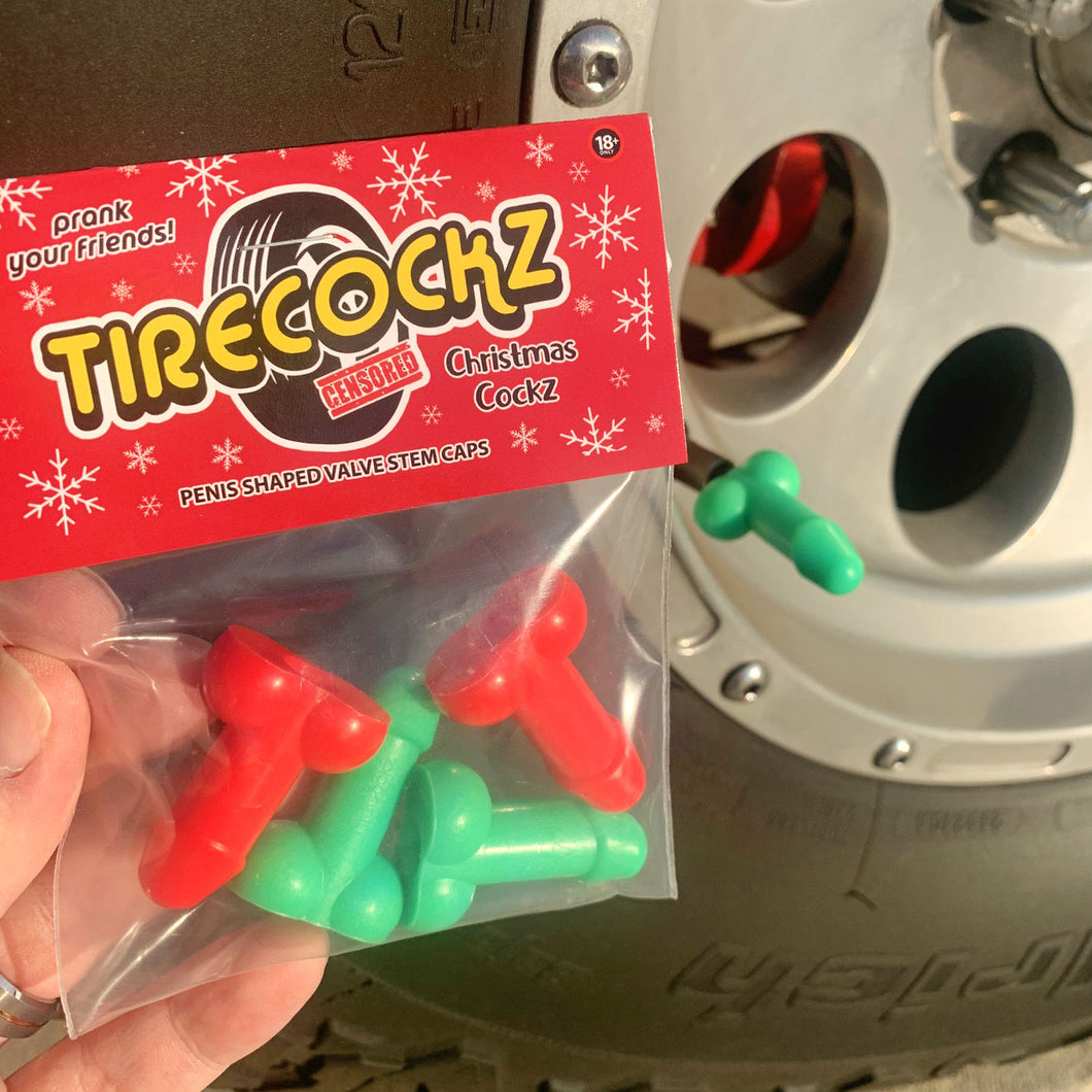 TireCockz Prank Valve Stem Caps Christmas Edition