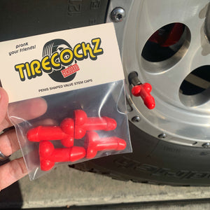 Tirecockz Prank Penis Shaped Valve Stem Cap