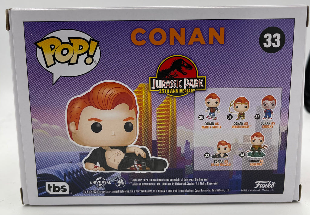 Conan as Dr. Ian Malcolm Exclusive Funko Pop! #33