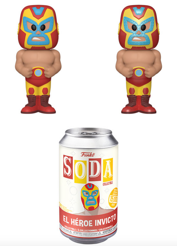 Funko Vinyl Soda Marvel Luchadores Iron Man w/ Possible Chase (Pre Order)