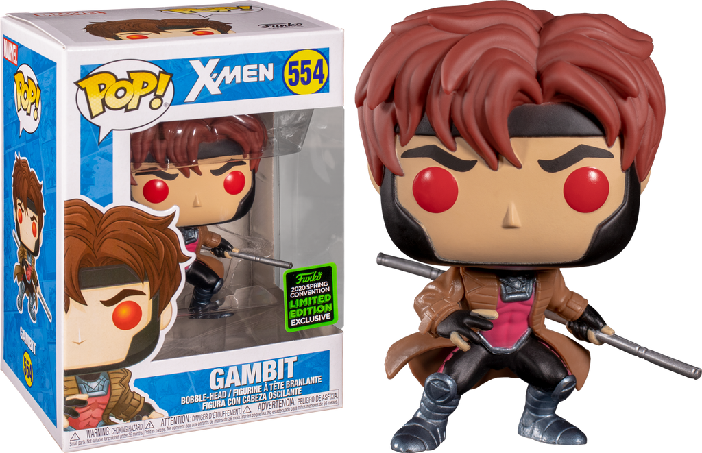 Funko Pop! X-Men Gambit Spring Convention Exclusive #554