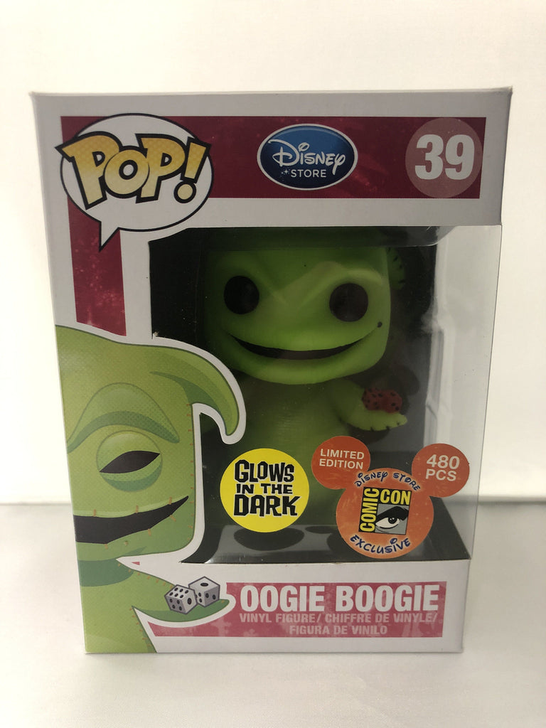 Funko Pop! Nightmare Before Christmas NBC Oogie Boogie Glow (GID) SDCC Exclusive #39 *Damaged Box*