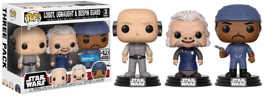 Funko Pop! Star Wars Lobot, Ugnaught, & Bespin Guard 3 Pack Exclusive