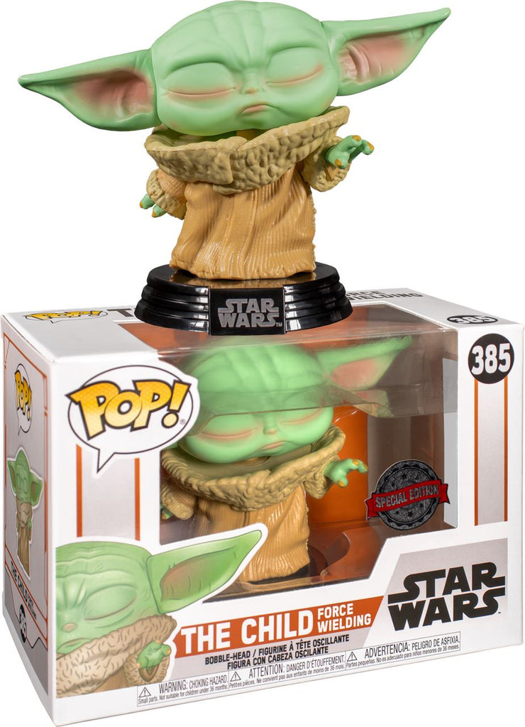Funko Pop! Star Wars The Mandalorian The Child Force Wielding Exclusive (Baby Yoda)