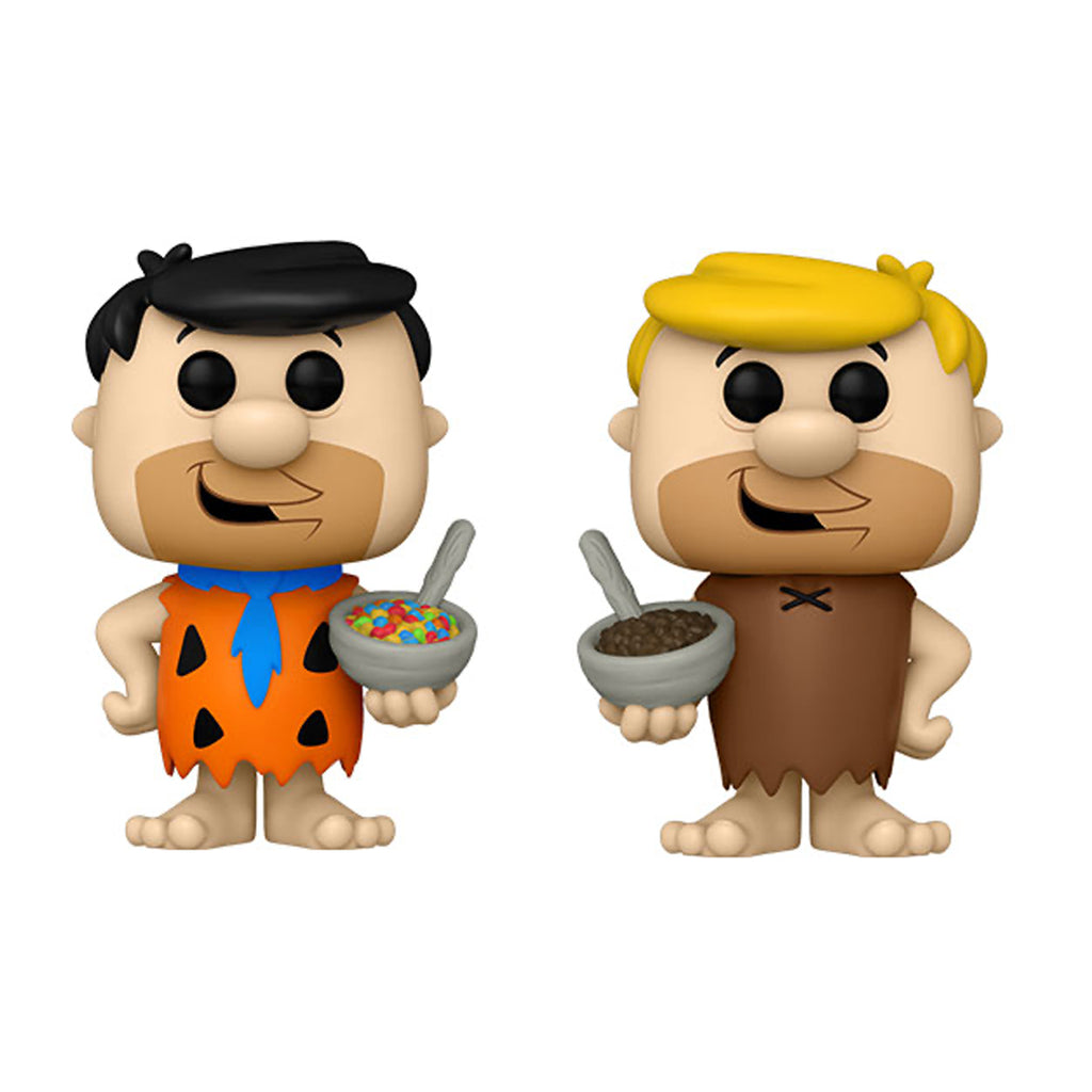 Fred Flintstone w/ Fruity Pebbles  & Barney Rubble w/ Cocoa Pebbles Flintstones Cereal Ad Icons Funko Pop! Full Set Bundle of 2 (Pre Order)