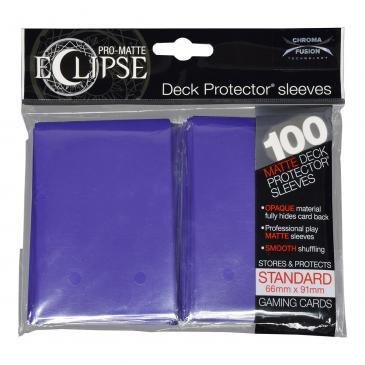PRO-Matte Eclipse Royal Purple Standard Deck Protector sleeve 100ct Undiscovered Realm