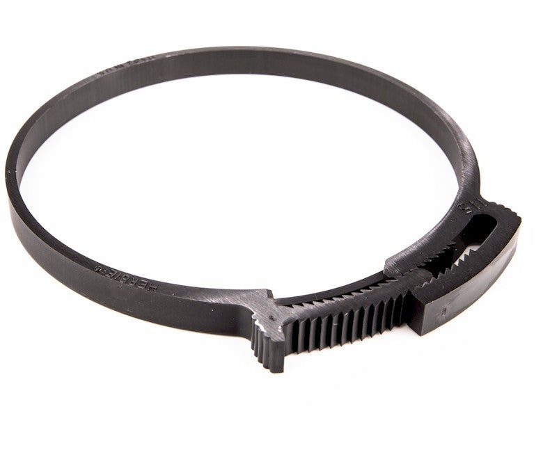 Plastic Hose Clamp - Herbie Clip - 114.0-121.9mm - Black - PA66