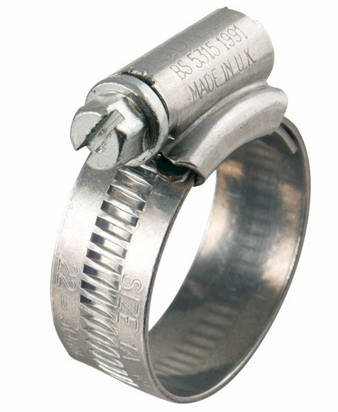 Jubilee Hose Clip - 18-25mm - Zinc Plated Steel