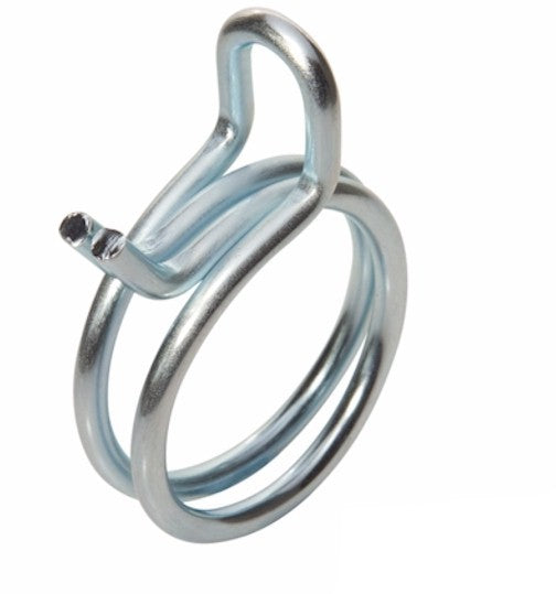 Double Wire Hose Clamp - 24.4-26.0mm - Zinc Plated Steel