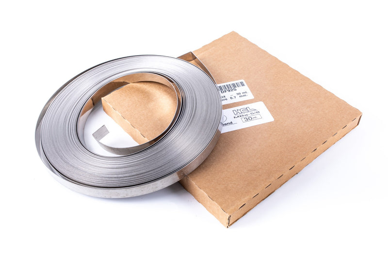 Metal Banding - 1/4 inch - W: 6.4mm - 30m Reel - 201SS