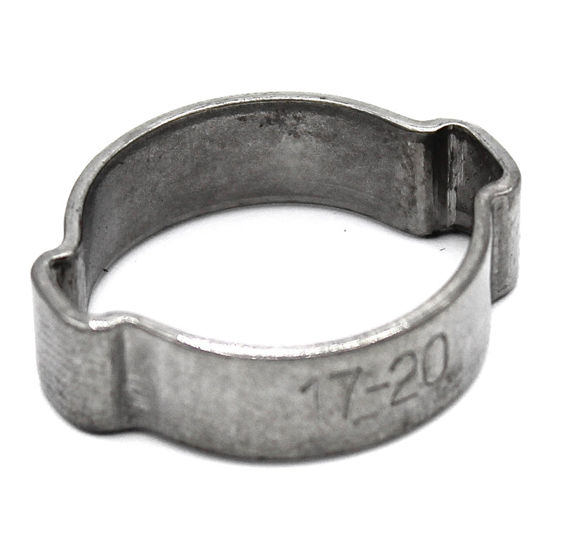Double Ear Hose Clamp - 17-20mm - 304 Stainless Steel