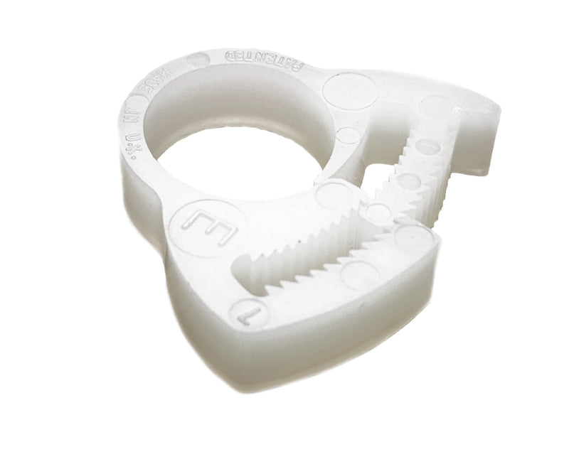 Plastic Hose Clamp - Herbie Clip - 13.8-15.3mm - Natural - PA66