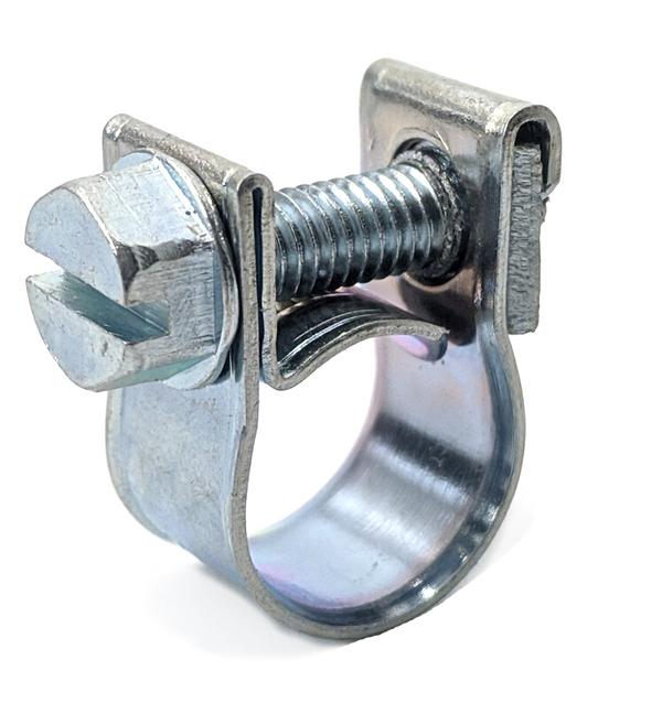 Screw Hose Clamp - Mini - Petrol Pipe - 13-15mm - Zinc Plated