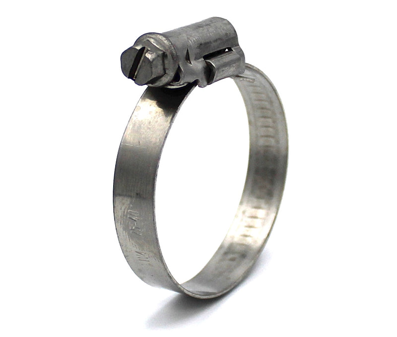Mikalor ASFA L Worm Drive Hose Clamp - 25-40mm - 430SS - 9mm Wide