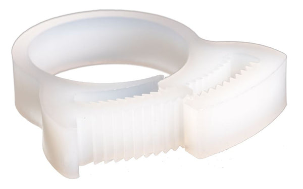 Plastic Hose Clamp - Herbie Clip - 12.3-14.2mm - Natural - PA66