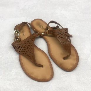 Primary Photo - BRAND: KENNETH COLE REACTION STYLE: SANDALS FLAT COLOR: BROWN SIZE: 8.5 SKU: 191-191212-8921