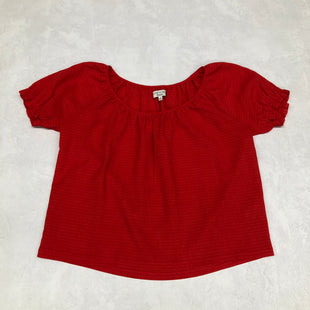 Primary Photo - BRAND: MADEWELL STYLE: TOP SHORT SLEEVE COLOR: RED SIZE: M OTHER INFO: TEXTURE AND THREAD - SKU: 191-191196-5590