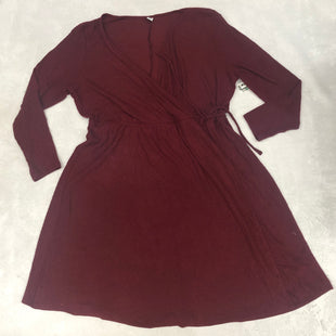 Primary Photo - BRAND: OLD NAVY STYLE: DRESS SHORT LONG SLEEVE COLOR: BURGUNDY SIZE: 3X SKU: 191-19145-17462