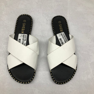 Primary Photo - BRAND:    CLOTHES MENTOR STYLE: SANDALS FLAT COLOR: WHITE SIZE: 10 OTHER INFO: SHE&IN - SKU: 191-191229-1296