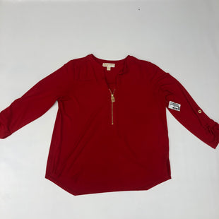 Primary Photo - BRAND: MICHAEL BY MICHAEL KORS STYLE: TOP LONG SLEEVE COLOR: RED SIZE: L SKU: 191-19158-34591