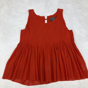 Primary Photo - BRAND: ANTHROPOLOGIE STYLE: TOP SLEEVELESS COLOR: ORANGE SIZE: XS SKU: 191-19145-21150
