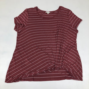 Primary Photo - BRAND:    CLOTHES MENTOR STYLE: TOP SHORT SLEEVE BASIC COLOR: STRIPED SIZE: 2X SKU: 191-191231-1685