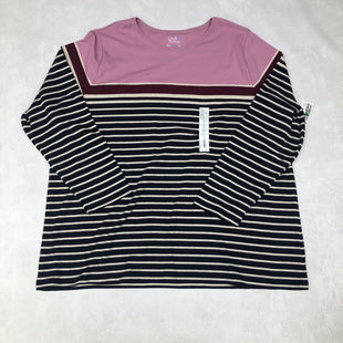 Primary Photo - BRAND: CROFT AND BARROW STYLE: TOP LONG SLEEVE BASIC COLOR: STRIPED SIZE: 3X SKU: 191-19145-16432