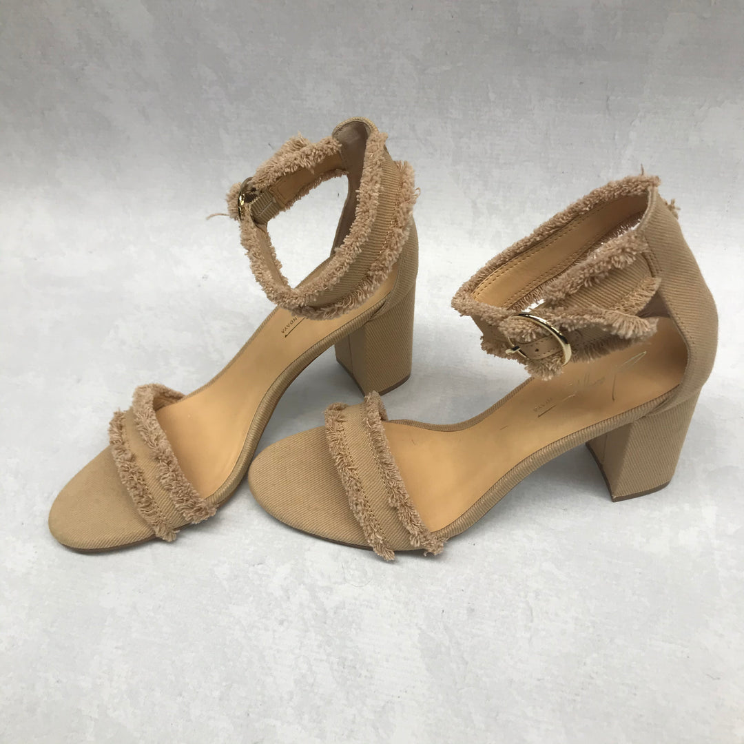 Photo #1 - BRAND:    CLOTHES MENTOR <BR>STYLE: SHOES LOW HEEL <BR>COLOR: TAUPE <BR>SIZE: 7.5 <BR>OTHER INFO: ZENDAYA - <BR>SKU: 191-19145-22139