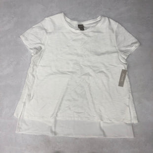 Primary Photo - BRAND: CHICOS STYLE: TOP SHORT SLEEVE BASIC COLOR: WHITE SIZE: L SKU: 191-191218-5266