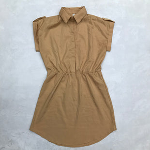 Primary Photo - BRAND:    CLOTHES MENTOR STYLE: DRESS SHORT SHORT SLEEVE COLOR: TAN SIZE: XL OTHER INFO: OUHI - SKU: 191-191175-17417