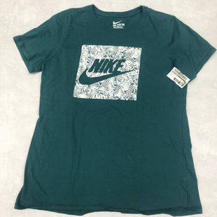 Primary Photo - BRAND: NIKE APPAREL STYLE: ATHLETIC TOP SHORT SLEEVE COLOR: GREEN SIZE: L SKU: 191-19145-22291