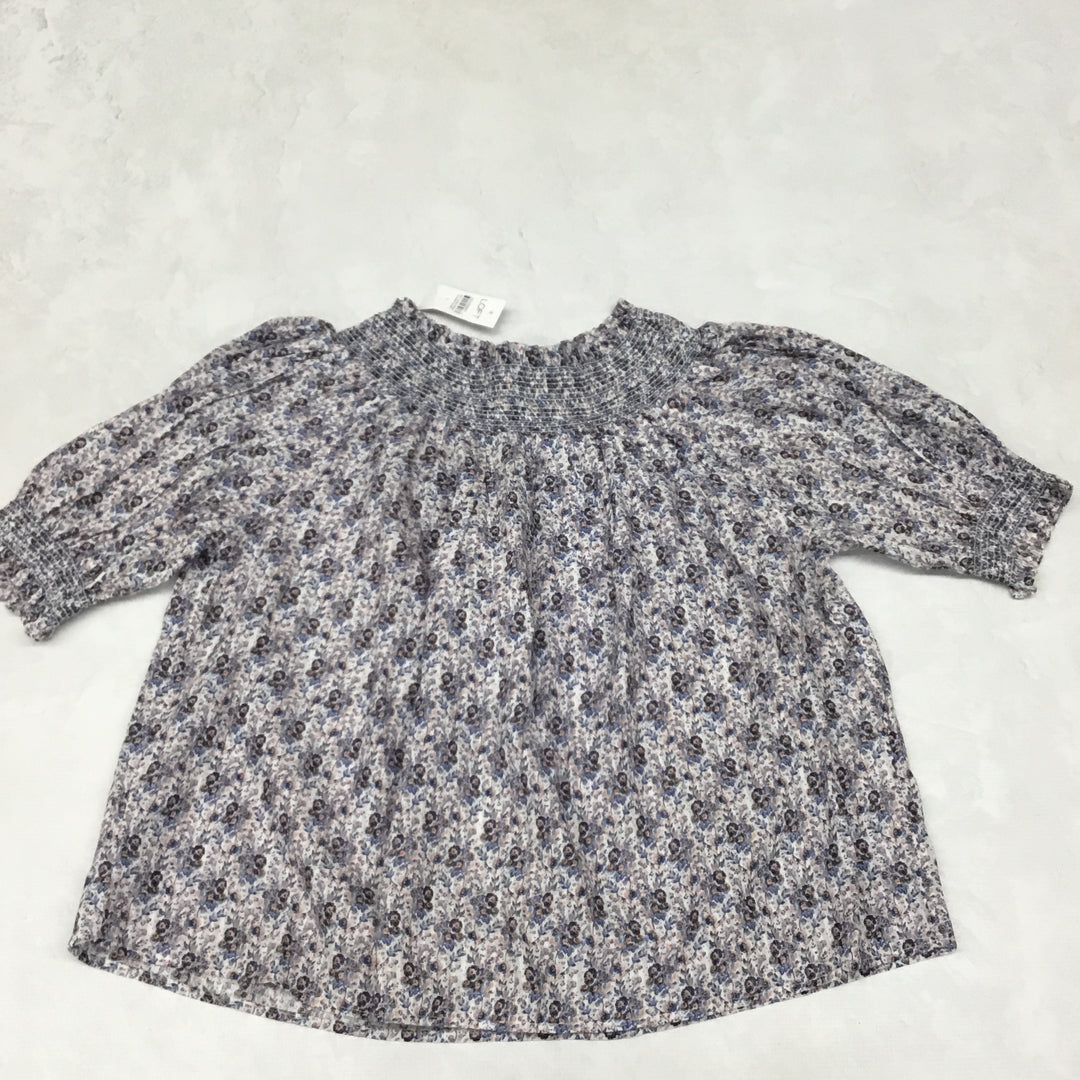 Primary Photo - BRAND: LOFT <BR>STYLE: TOP SHORT SLEEVE <BR>COLOR: FLORAL <BR>SIZE: L <BR>SKU: 191-191212-9248