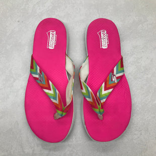 Primary Photo - BRAND: SKECHERS STYLE: SANDALS FLAT COLOR: PINK SIZE: 9 SKU: 191-191229-1573