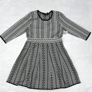 Primary Photo - BRAND: NINA LEONARD STYLE: DRESS SHORT LONG SLEEVE COLOR: BLACK WHITE SIZE: L SKU: 191-191212-7123