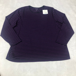 Primary Photo - BRAND: CROFT AND BARROW STYLE: TOP LONG SLEEVE BASIC COLOR: PURPLE SIZE: 3X SKU: 191-19145-16439