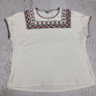 Primary Photo - BRAND:    POLAGRAMSTYLE: TOP SHORT SLEEVE COLOR: WHITE SIZE: L SKU: 191-19145-15934