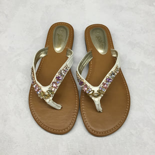 Primary Photo - BRAND:    CLOTHES MENTOR STYLE: SANDALS FLAT COLOR: BROWN SIZE: 9 OTHER INFO: PALMS - SKU: 191-191217-2578