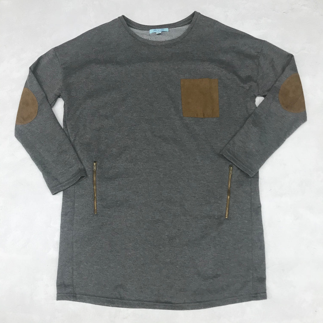 Primary Photo - BRAND: SHE + SKY <BR>STYLE: TOP LONG SLEEVE <BR>COLOR: GREY <BR>SIZE: L <BR>SKU: 191-191218-6294