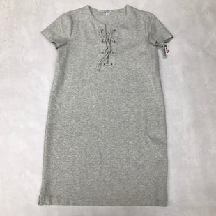Primary Photo - BRAND: J CREW STYLE: DRESS LONG SHORT SLEEVE COLOR: GREY SIZE: M SKU: 191-191175-17386