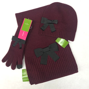 Primary Photo - BRAND: KATE SPADE STYLE: SCARF WINTER 3 PS SETCOLOR: MAROON SKU: 191-191175-17401