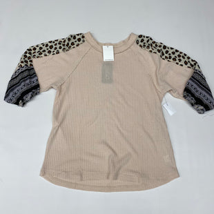 Primary Photo - BRAND:    CLOTHES MENTOR STYLE: TOP LONG SLEEVE COLOR: TAUPE SIZE: M OTHER INFO: GIGIO - SKU: 191-191196-8924