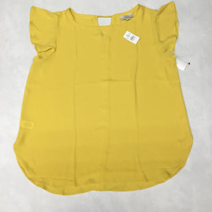 Primary Photo - BRAND: ANN TAYLOR LOFT O STYLE: TOP SHORT SLEEVE COLOR: YELLOW SIZE: L SKU: 191-191175-17041