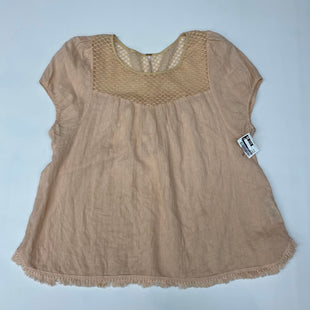Primary Photo - BRAND: FREE PEOPLE STYLE: TOP SHORT SLEEVE COLOR: PEACH SIZE: M SKU: 191-191229-3811