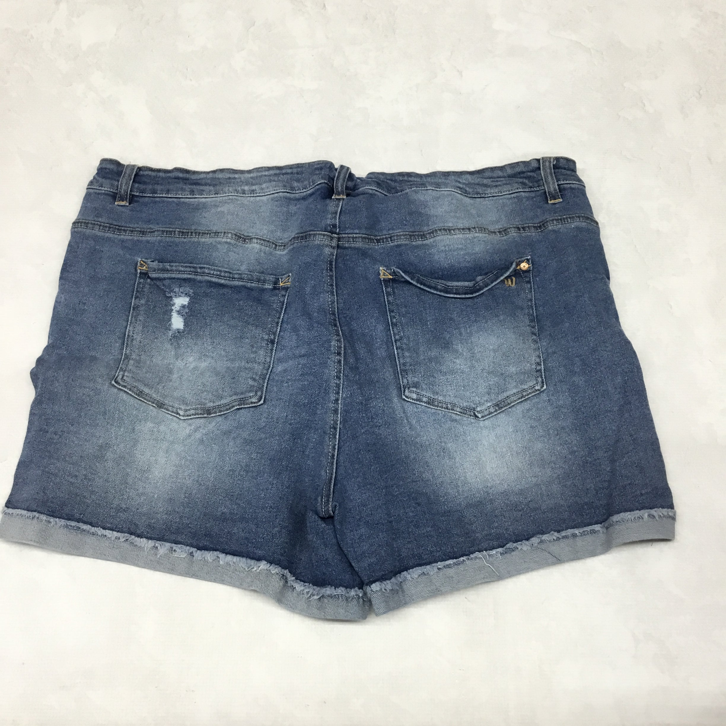 Photo #2 - BRAND: WALLFLOWER <BR>STYLE: SHORTS <BR>COLOR: DENIM BLUE <BR>SIZE: 24 <BR>SKU: 191-191212-9199