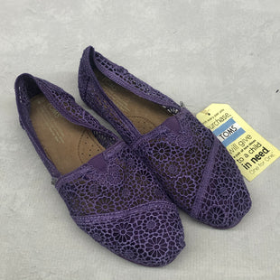 Primary Photo - BRAND: TOMS STYLE: SHOES FLATS COLOR: PURPLE SIZE: 8 SKU: 191-19158-33388